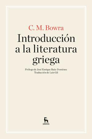 INTRODUCCIÓN A LA LITERATURA GRIEGA