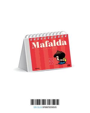 CALENDARIO 2022 MAFALDA ESCRITORIO ROJO